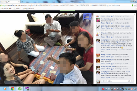 """Nữ kiểm sát viên đánh bạc còn """"khoe"""" ảnh trên facebook"""