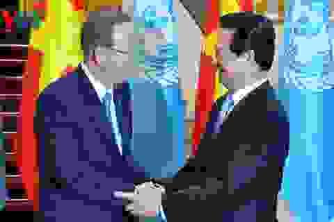 Thủ tướng Nguyễn Tấn Dũng hội kiến ông Ban Ki-moon