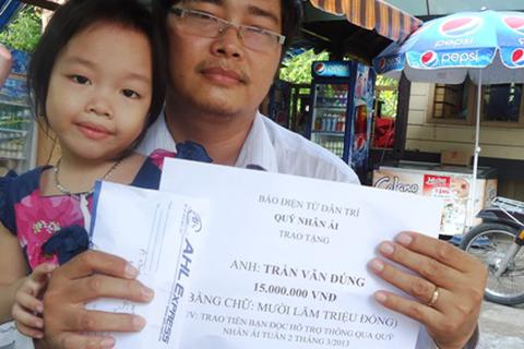 Hơn 15 triệu đồng đến với bé Lan Dung