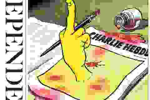 Đồng nghiệp khắp thế giới vẽ tranh ủng hộ tạp chí châm biếm Charlie Hebdo