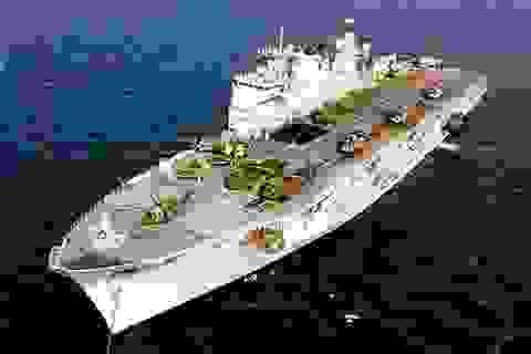 Gần 50 tàu chiến NATO tập trận gần căn cứ quân sự Nga