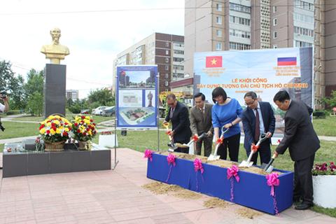 Khởi công xây dựng tượng đài Chủ tịch Hồ Chí Minh trên quê hương Lenin
