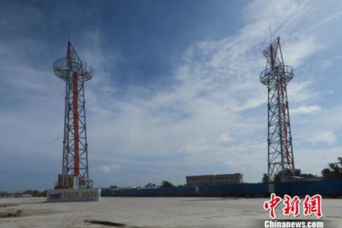 Trung Quốc dựng cọc tiêu dẫn hướng trái phép tại Hoàng Sa