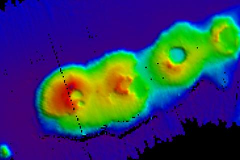 Tình cờ phát hiện 4 núi lửa nằm san sát ngoài khơi Sydney