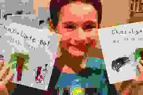 Cậu bé 7 tuổi thu 16 tỉ đồng tiền bán sách
