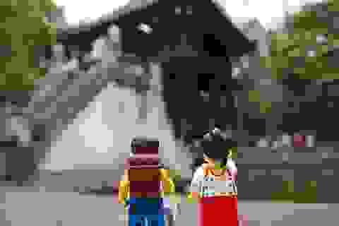Chùa Một Cột, biển Hội An... trên bộ ảnh lego gây sốt