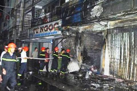 Cháy lớn tại công ty điện máy trong ngày tiễn ông Táo