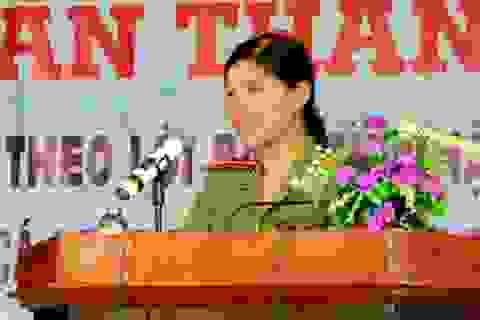 Nữ Thượng úy công an nhiệt tình với phong trào Đoàn
