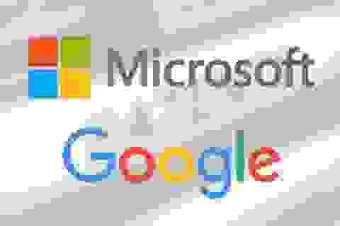 """Microsoft và Google đạt được """"thỏa thuận lịch sử"""""""