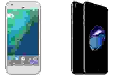 Đọ cấu hình Pixel và Pixel XL với bộ đôi iPhone 7 của Apple