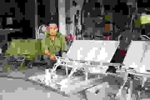 """Máy cấy """"không động cơ"""" của lão nông Ninh Bình"""