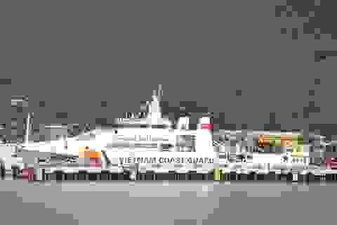 Hạ thủy tàu cảnh sát biển có sân đỗ máy bay trực thăng
