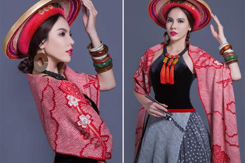 """""""Lộ diện"""" trang phục truyền thống của Lệ Quyên tại Miss Grand International 2015"""