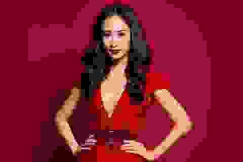 Hà Thu gợi cảm trong trang phục thi Hoa hậu Liên lục địa