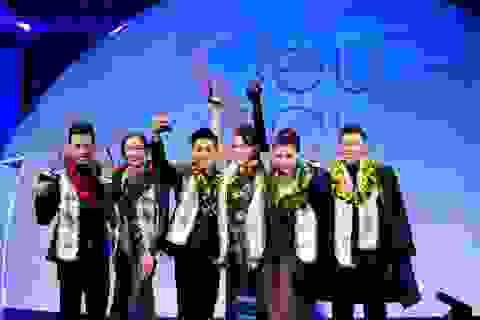 Khả Trang - Mai Tuấn Anh giành giải vàng siêu mẫu Việt Nam 2015
