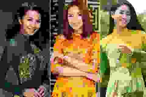 Top 10 sao Việt ấn tượng với áo dài trong năm mới