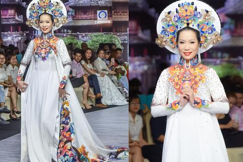 Trịnh Kim Chi bất ngờ trở lại sàn diễn thời trang sau 17 năm