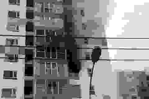 Cháy chung cư Hưng Phát, cư dân hốt hoảng tháo chạy