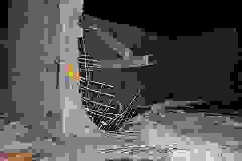 Bồn chứa nước bị vỡ, tống sập bức tường công ty dệt may Thành Công