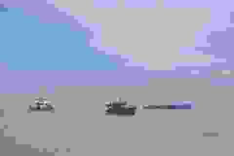 Tàu hàng đâm chìm sà lan trên biển Cần Giờ, nữ thuyền trưởng mất tích