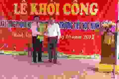 Khởi công xây dựng công trình phòng học đa chức năng trường tiểu học Ninh Sơn