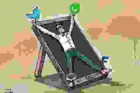 Ảnh biếm họa về chứng nghiện công nghệ khiến chúng ta giật mình