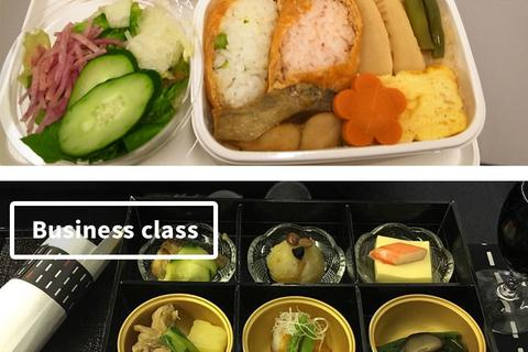 Sự khác biệt giữa suất ăn hạng thương gia và phổ thông trên máy bay