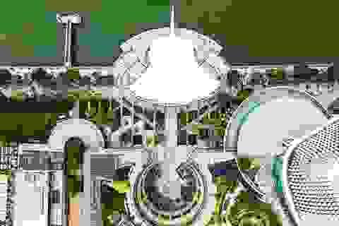 """Ngắm Singapore """"rất lạ"""" nhìn từ trên cao"""