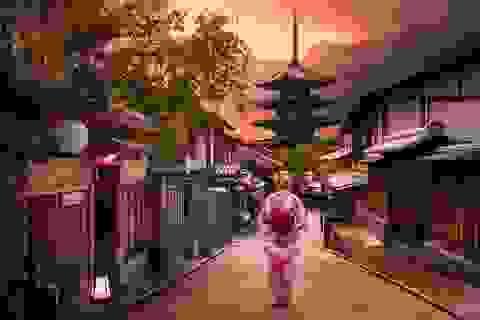 Nét cổ kính xen giữa cuộc sống hiện đại ở Nhật Bản