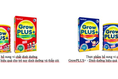 GROWPLUS+ của NutiFood - Dinh dưỡng hiệu quả giúp trẻ tăng cân khỏe mạnh