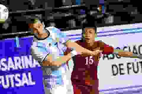 Dẫn trước 2 bàn, đội tuyển futsal Việt Nam vẫn thua ngược Argentina