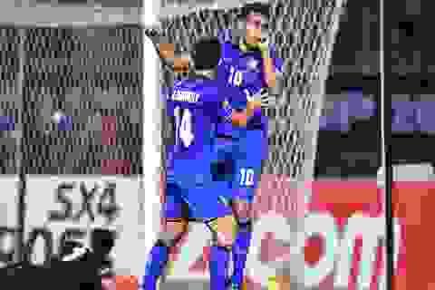 Teerasil Dangda bắt kịp thành tích ghi bàn của Công Vinh tại AFF Cup