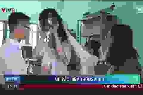 Học sinh Huế chế tạo mũ bảo hiểm phát hiện say rượu