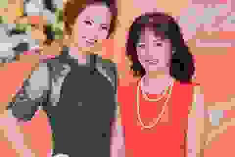 Mẹ Đan Lê đẹp mặn mà cùng con gái đến dự sinh nhật Mỹ Linh