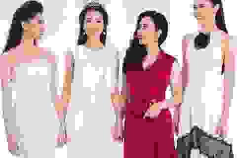 Hoa hậu Đỗ Mỹ Linh đẹp lộng lẫy bên 2 Á hậu