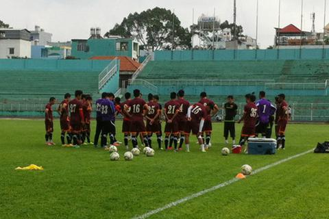 Buổi tập cuối cùng trên sân nhà của tuyển Việt Nam trước bán kết