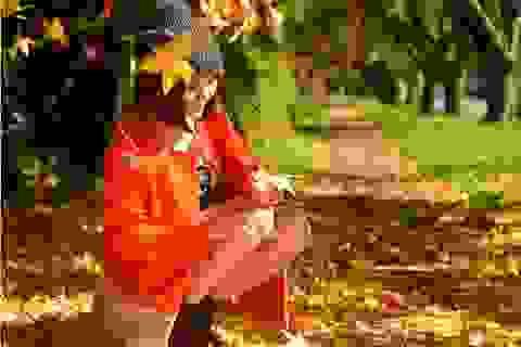Vân Trang đẹp lãng mạn với mùa thu tại Úc