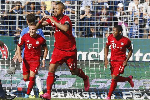 Darmstadt 0-3 Bayern Munich: Arturo Vidal lập siêu phẩm