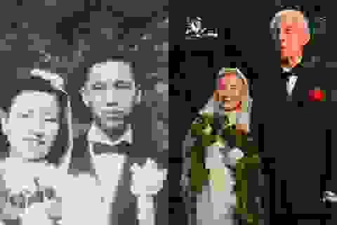 Đôi vợ chồng già làm lại đám cưới sau 70 năm