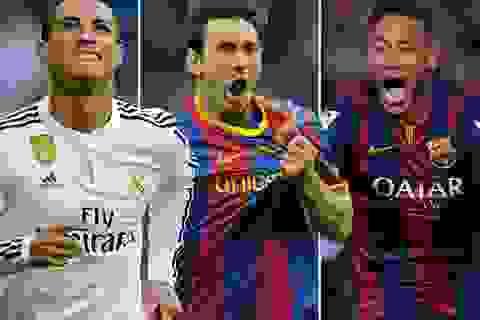 Messi, Ronaldo lọt vào Đội hình tiêu biểu 2015 của UEFA