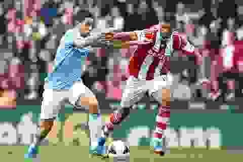 Man City hòa thất vọng trên sân Stoke City