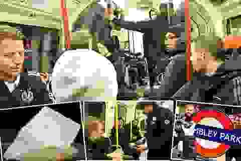 Tuyển Đức đi tàu điện ngầm tới Wembley