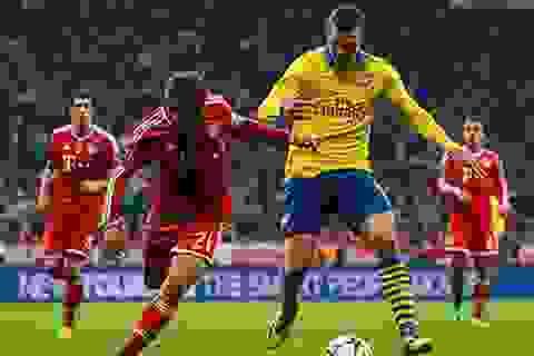 Hòa trên sân Bayern Munich, Arsenal bị loại đầy cay đắng