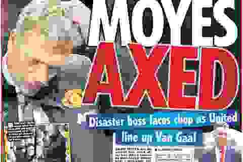 Truyền thông Anh sôi sục trước tin MU sẽ sa thải Moyes