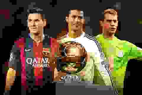 Ai sẽ lên ngôi tại đêm Gala trao giải Quả bóng vàng FIFA?