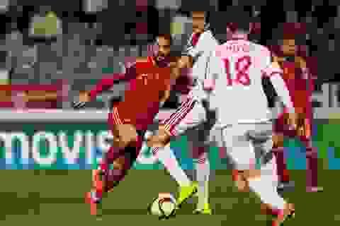 """Tây Ban Nha """"trút mưa bàn thắng"""" để bảo toàn ngôi nhì?"""