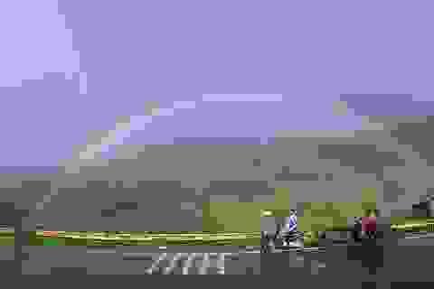 Cầu vồng tuyệt đẹp xuất hiện ở vùng núi Sa Pa