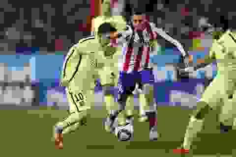 Barcelona lên ngôi vô địch La Liga tại Vicente Calderon?