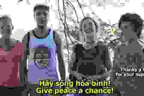 Clip giáo viên tiếng Anh ở Hà Nội kêu gọi sống hòa bình
