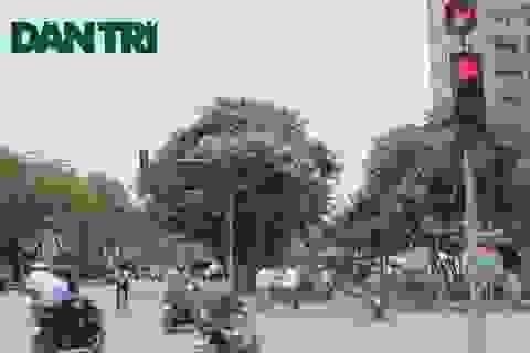 """Hà Nội: Người dân ồ ạt vượt đèn đỏ để """"chạy trốn"""" nắng nóng"""